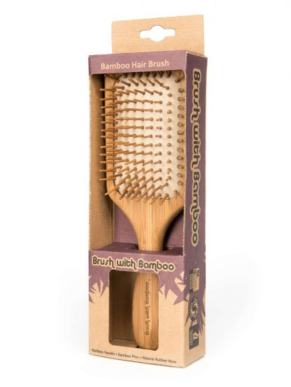brush with bamboo hairbrush with packaging