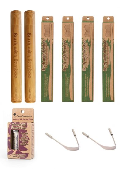 couples oral care set by Brush with Bamboo