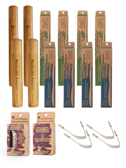 family oral care set by Brush with Bamboo