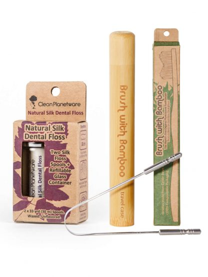 oral care set by Brush with Bamboo