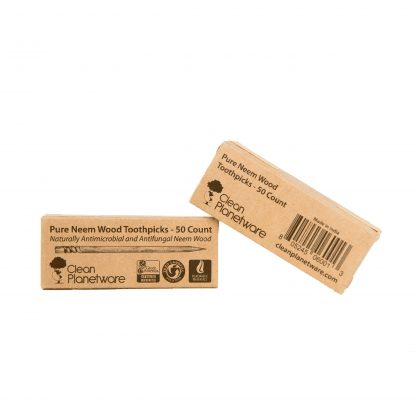neem toothpick in box by Brush with Bamboo