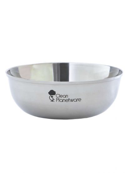 stainless steel bowl by Brush with Bamboo