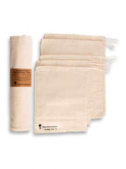 reusable cotton produce bags by Brush with Bamboo