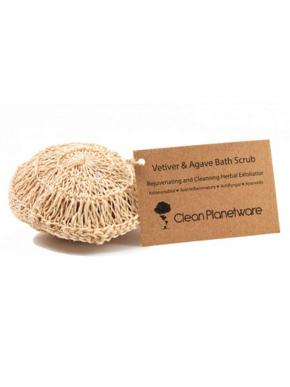 vetiver agave bath scrub by Brush with Bamboo